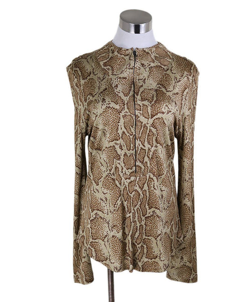 Chloe Beige Brown Animal Print Longsleeve