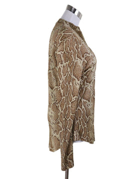 Chloe Beige Brown Animal Print Longsleeve 1