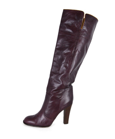 Chloe Plum Leather Boots 1