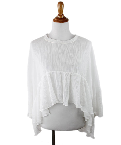Chloe White Cotton Top Sz 4