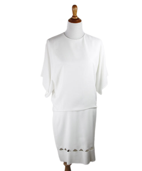 Chloe White Viscose Dress Size 10