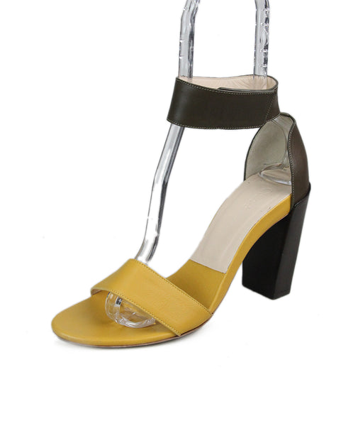 Chloe Yellow Bronze Leather Sandals 1