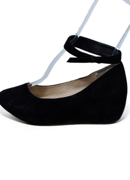 Chloe Black Suede Ankle Strap Wedges 2