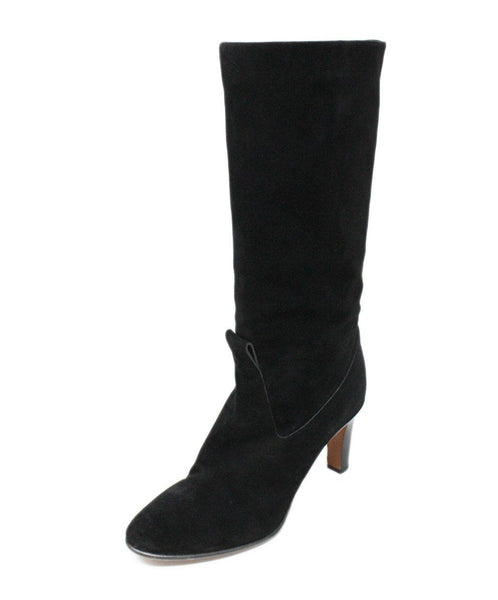 Chloe Black Suede Boots 1