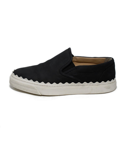 Chloe Black Suede Sneakers 1