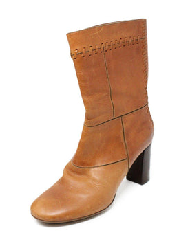 Chloe Brown Tan Leather Boots