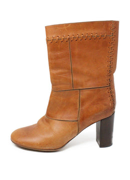 Chloe Brown Tan Leather Boots 1