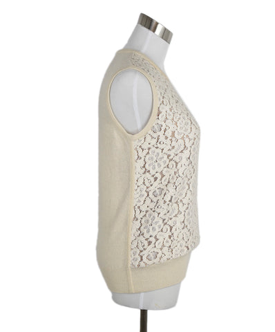 Chloe Cream Wool Cashmere Tank Top 1