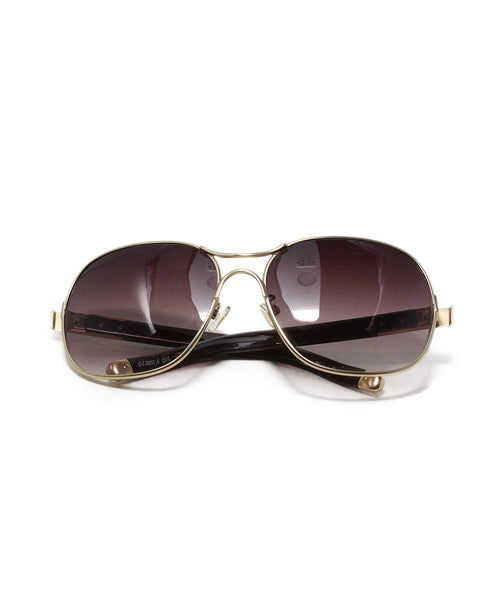 Chloe Metallic Gold Brown Sunglasses 1
