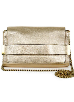Chloe Gold Leather Metallic Gold Handbag 1