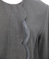 Chloe Grey Scalloped Silk Linen Top 4