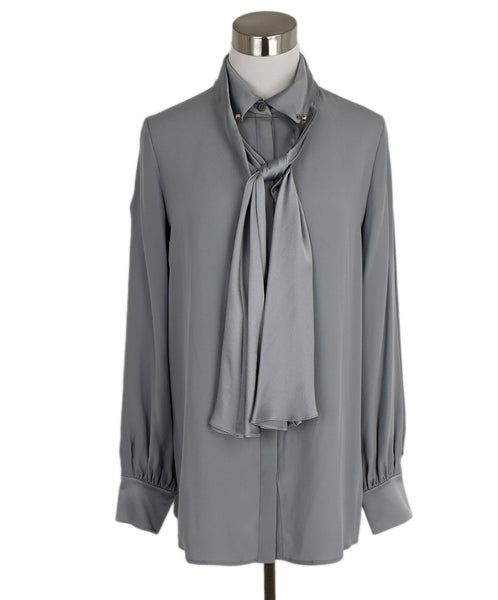 Chloe Grey Silk Top 1