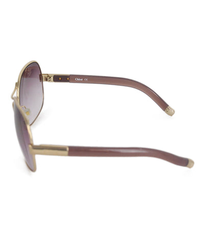Chloe lilac metal gold frame sunglasses 1