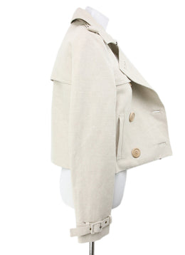 Chloe Neutral Cream Cotton Jacket 2