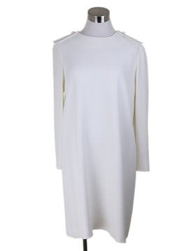 Chloe Neutral Ivory Acetate Silk Dress 1