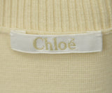 Chloe Ivory Silk and Wool Top sz. 4 | Chloe