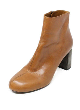 Chloe Tan Leather Booties 1