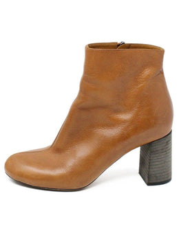 Chloe Tan Leather Booties 2