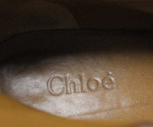 Chloe Tan Leather Booties 5