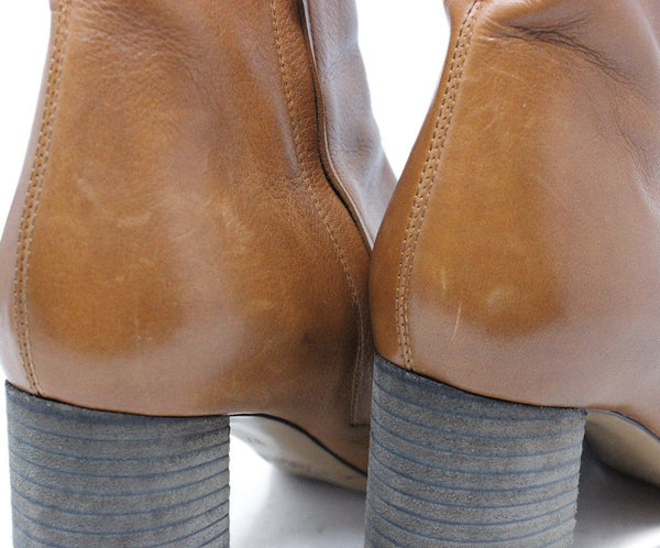 Chloe Tan Leather Booties 7