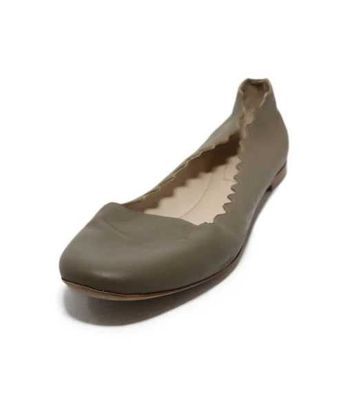 Chloe neutral taupe flats 1