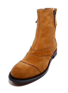 Chloe Neutral Tobacco Suede Booties 1