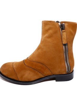 Chloe Neutral Tobacco Suede Booties 2