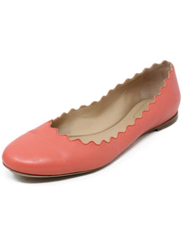 Chloe Pink Leather Flats 1