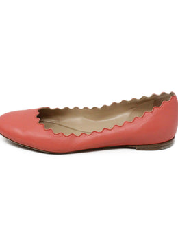 Chloe Pink Leather Flats 2