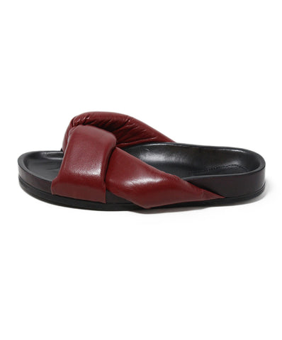 Chloe red leather sandals 1
