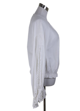 Chloe White Cotton Eyelet Longsleeve Top 2