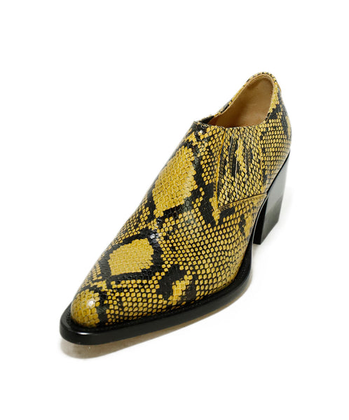 Chloe US 10.5 Yellow Black Pressed Leather Shoes 1