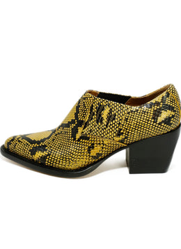 Chloe US 10.5 Yellow Black Pressed Leather Shoes 2