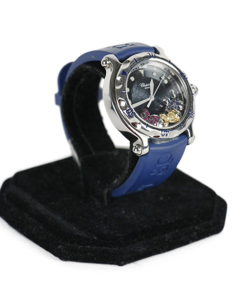 Chopard Blue Rubber Ruby Yellow Sapphire Watch