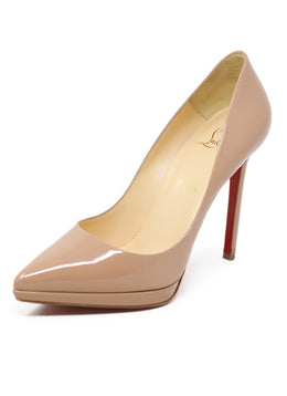 Christian Louboutin Nude Patent Heels