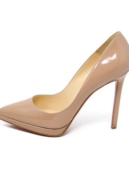 Christian Louboutin Nude Patent Heels 1