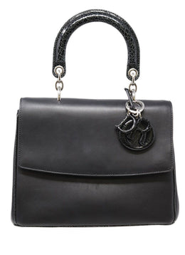 Christian Dior Black Leather Be Dior Bag