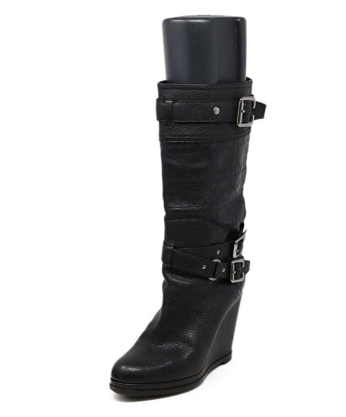 Christian Dior Black Leather Boots 1