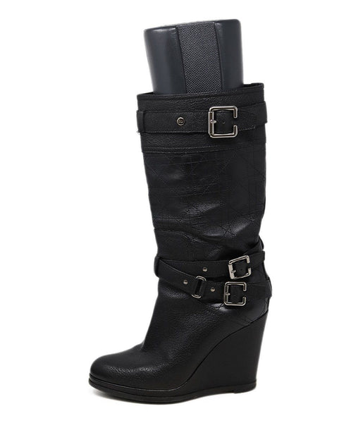 Christian Dior Black Leather Boots 2