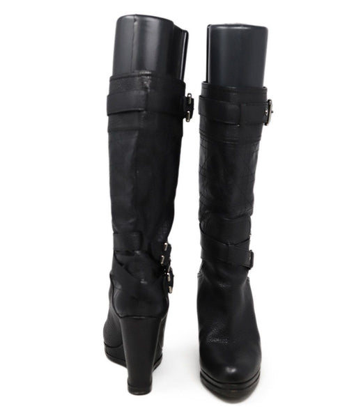 Christian Dior Black Leather Boots 3