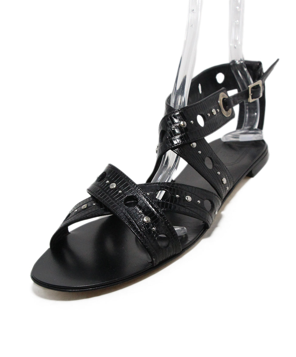 847781af61a7 Christian Dior Sandals US 10 Black Pressed Leather Sp 19 Storage ...