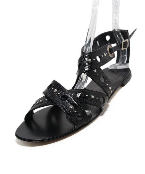Christian Dior Black Leather Sandals 1
