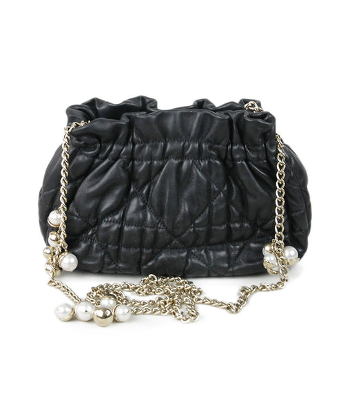 Christian Dior Black Quilted Leather Handbag