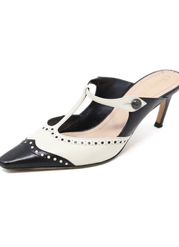 "Christian Dior Black Leather White ""as is"" Shoes"