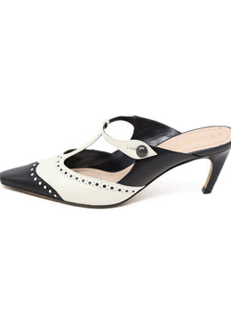 "Christian Dior Black Leather White ""as is"" Shoes 1"