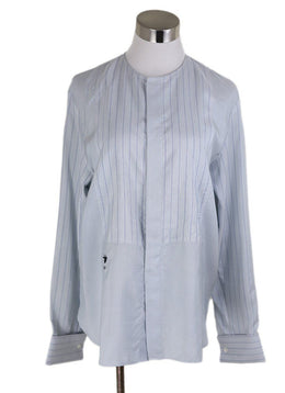 Christian Dior Blue Pale Silk Longsleeve