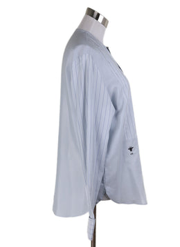 Christian Dior Blue Pale Silk Longsleeve 1