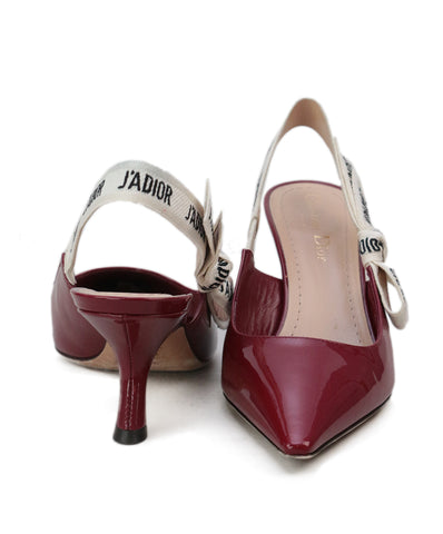 Christian Dior Burgundy Patent Leather Heels 1