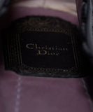 Christian Dior Black Lilac Cut Leather Flats 7
