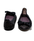 Christian Dior Black Lilac Cut Leather Flats 3